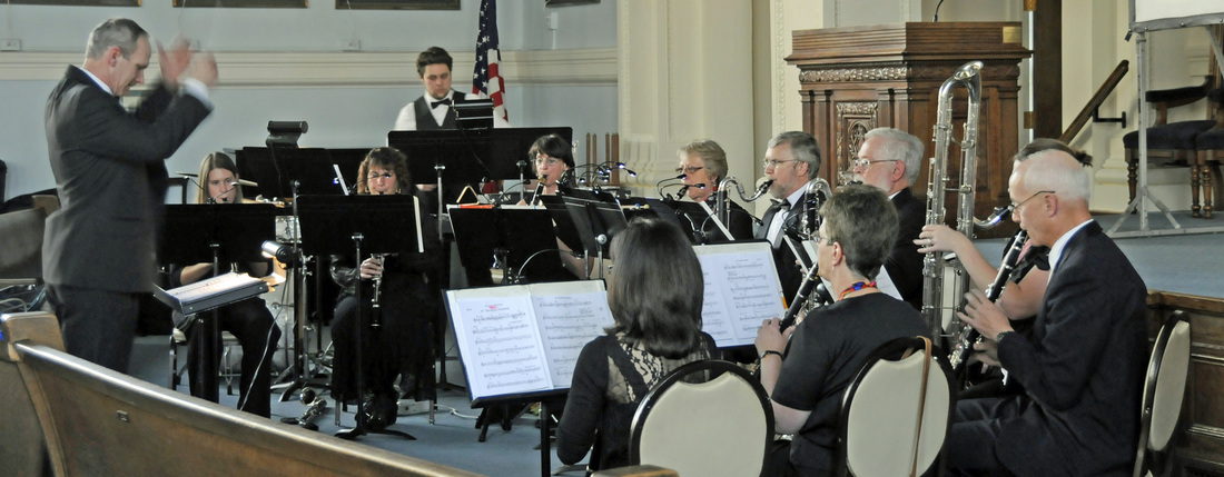 John conducting the Silverwood Clarinet Choir in The Great Clarinet Circus at Temple Concord, Syracuse, NY