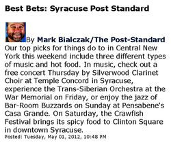 Silverwood Clarinet Choir Best Bets by Post Standard
